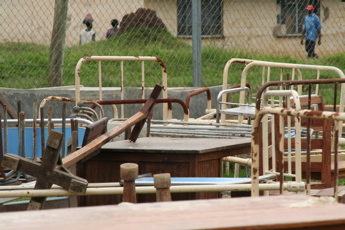 Furniture used in Ebola isolation ward